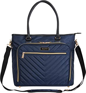 """Kenneth Cole Reaction Chevron 15"""" Laptop & Tablet Business Tote with Removable Shoulder Strap"""