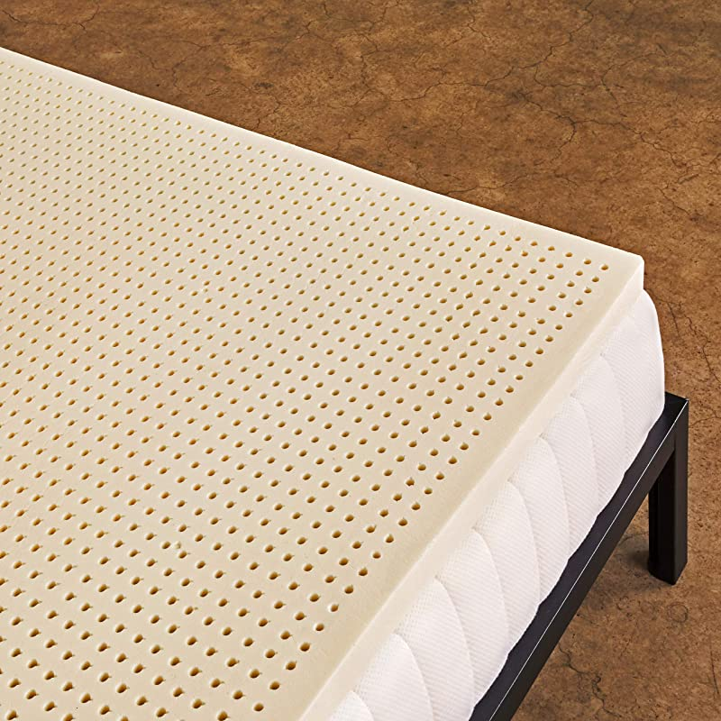 Pure Green 100 Natural Latex Mattress Topper Soft 3 Inch Queen Size