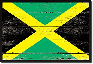 AllChalkboard Jamaica National Country Flag Canvas Print Picture Frame Home Decor Wall Art Office Decoration Housewarming Souvenir Gifts 25