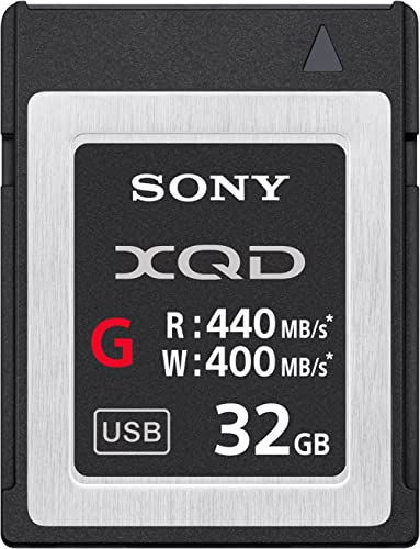 Sony Professional 32GB XQD Memory Card G Series (up to 440MB/s Read) w/File Rescue Software 32GB
