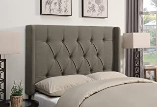 Pulaski DS-D017-270-373 Shelter Button Tufted Upholstered Headboard, Cal King, Taupe
