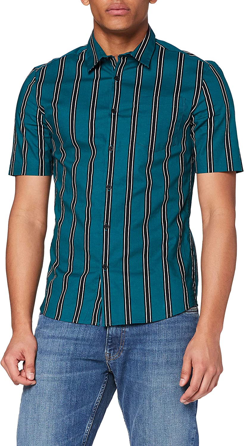 New Look Muscle Stripe Camisa para Hombre