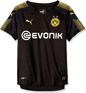 PUMA Borussia Dortmund FC 2017/18 Short Sleeve Away Jersey - Youth - Black/Yellow - Age 13-14