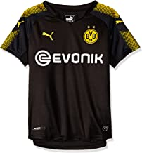 PUMA Borussia Dortmund FC 2017/18 Short Sleeve Away Jersey - Youth - Black/Yellow - Age 15-16