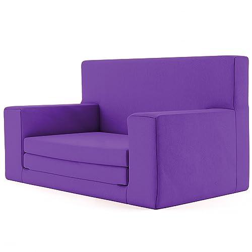 Charlie & Finn 2 en 1 sofá Cama Infantil Color Púrpura de Espuma viscoelástica: sofá