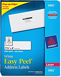AVE5962 - Avery Easy Peel Laser Address Labels