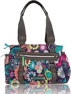 Triple Section Landon Multi-Purpose Satchel Bag