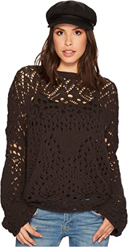 Free People - Traveling Lace Sweater