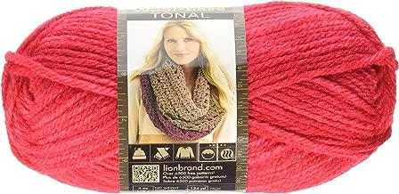 Lion Brand Yarn 635-113 Wool-Ease Tonal Yarn, Vermillion