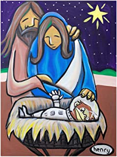 Space Monkey Nativity Giclee Art Print Poster by Seattle Mural Artist Henry (9