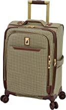 """London Fog Cambridge II 20"""" Expandable Spinner, Olive Houndstooth"""