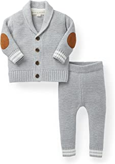 Hope & Henry Layette Cardigan and Sweater Leggings Set