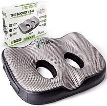 Socket Seat - Memory Foam Sit Bone Relief Cushion for Butt, Lower Back, Hamstrings, Hips, Ischial Tuberosity