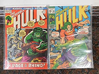 The Incredible Hulk Comic Set of 2: No.141 and 157. Published in 1971-1972.