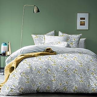 MATT & ROSE Bird Parure de lit, Coton, Blanc, Housse de Couette 220 x 240 cm + 2 taies d'oreillers 65X65 Cm