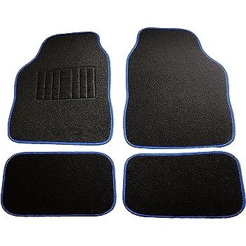 in feltro 6110 nero 2 anteriori 2 posteriori Tappeti auto universali set 4 pezzi