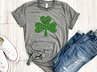 Irish girl Womens St patricks day tee Shamrock shirt st paddys day holiday womens gold love tee gift for her Irish af tee