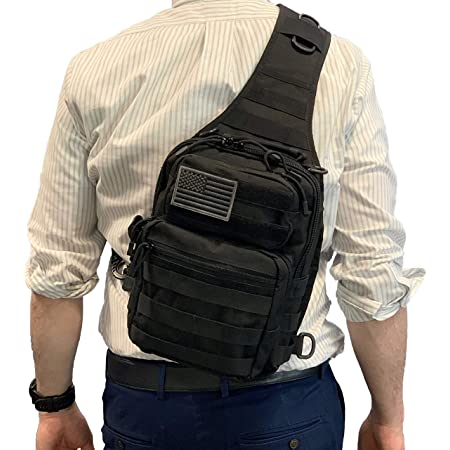 Men Military Tactical Chest Pack Outdoor Hiking Travel Sling Small Shoulder Bag