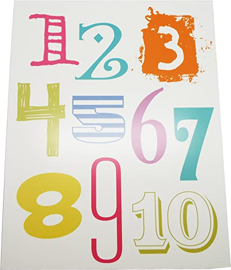 Amazon.com: Alphabet Letters Wall Décor and Numbers For Kids