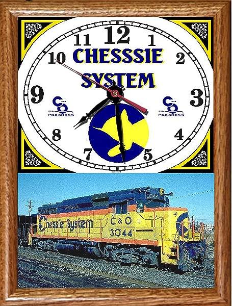 Chessie System Wood Framed Clock