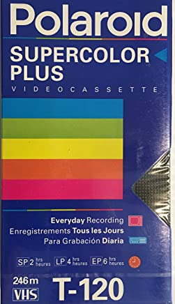 Polaroid Supercolor Plus Video Cassette VHS Tape T-120