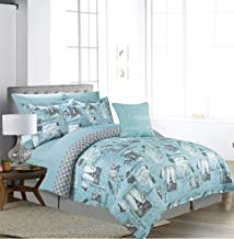 Sweet Home Collection Comforter 9 Piece Printed Fashion Soft and Luxurious Bedding with Sheet Set, Shams, and Decorative E...