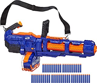 NERF Elite Titan CS-50 Toy Blaster -- Fully Motorized, 50-Dart Drum, 50 Official Elite Darts, Spinning Barrel -- for Kids, Teens, Adults