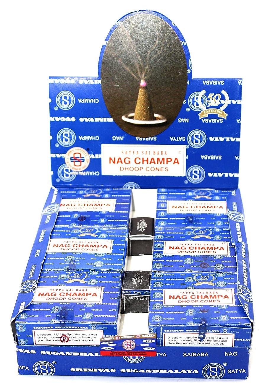 確認する使用法子Shrinivas Sugandhalaya Satya Sai Baba Nag Champa Incense Dhoop Cones, 144 Cones by Shrinivas Sugandhalaya