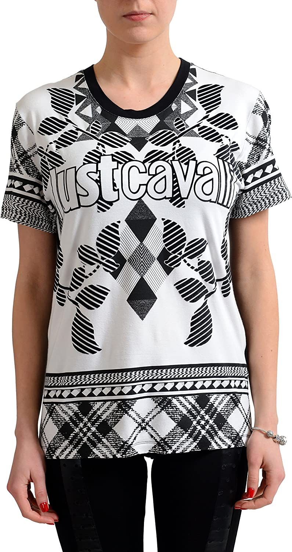 Just Cavalli Women's Multicolor Short Sleeve TShirt US S IT 40