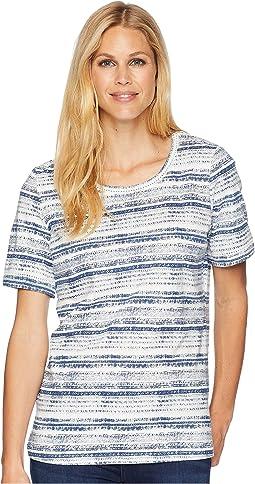 Antique Stripe Short Sleeve Top