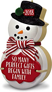 Hallmark Keepsake Christmas Ornament 2018 Year Dated, The Gift of Family Snowman