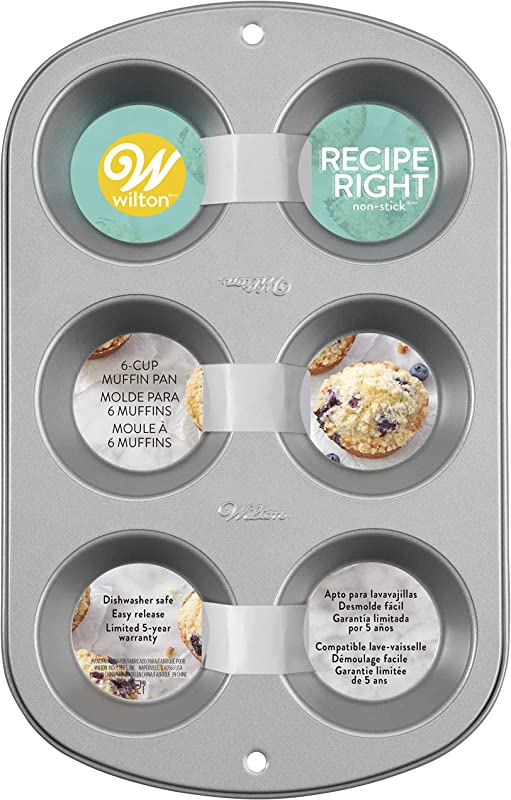 Wilton Recipe Right Muffin Pan For Great Muffins Cupcakes Breakfast Potato Egg Cups And So Much More 6 Cups