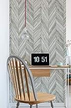 ورق جدران بتصميم متعرج خشبي رمادي فاتح من ترانسفورم