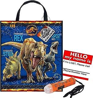 Jurassic World Fallen Kingdom Reusable Medium Sized Halloween Trick or Treat Loot Bag!! Plus Bonus