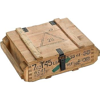 Caja de munición T45Natural-Caja para guardar CA 49x 37x 18cm Militar Caja Munitions Caja de madera caja de madera cajón-estantería manzana caja Shabby Vintage: Amazon.es: Hogar