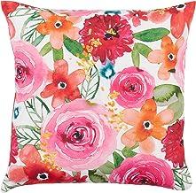غطاء وسادة بتصميم زهرة سانتا مونيكا من مجموعة سارة بي من سارو لايفستايل 45.72 سم، متعدد الألوان