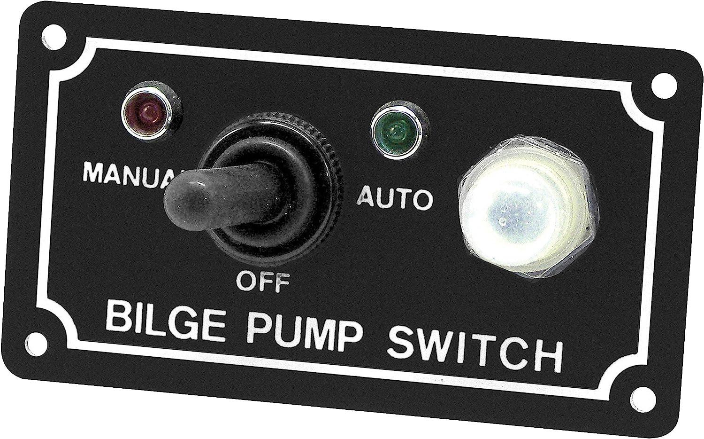 Shoreline Marine Bilge Pump Switch 40 Way Panel
