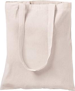 Natural de algodón Bolsas de Transporte, 10Unidades, 3Colores