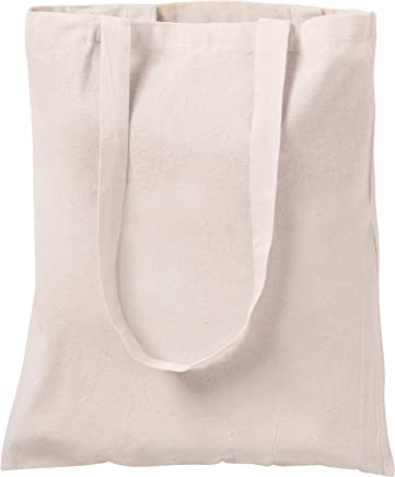 10 NATURAL COTTON TOTE BAGS SHOPPERS  NATURAL
