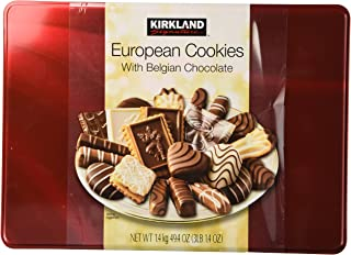 Cos-Sl Kirkland European Cookies with Belgian Chocolate 15 Variety Flavors Of 49.4 Oz Box (3 Lbs 1.4 Oz)
