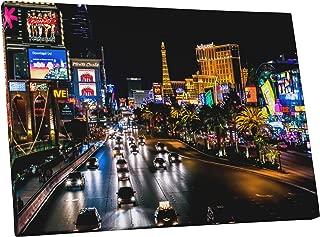 Pingo World 0429QATVEF4 Las Vegas Strip Night Skyline Gallery Wrapped Canvas Wall Art Print 30