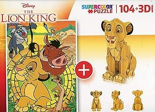 Clementoni 20158 20158-Puzzle 104 3D Model-Lion King-104 Pieces, Multi-Coloured