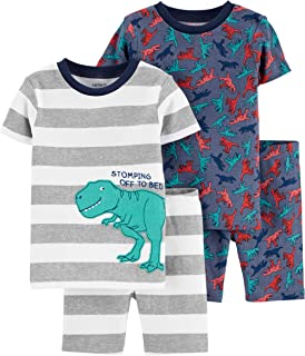 Carter's Boys' 4-Piece Snug Fit Cotton Pajama PJs