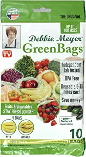 Debbie Meyer 5130614 GreenBags Freshness-Preserving Food/Flower Storage Bags (Various Sizes, 10-Pack)