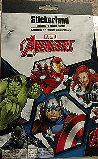 Marvel Avengers Stickerland 4 Sheetd