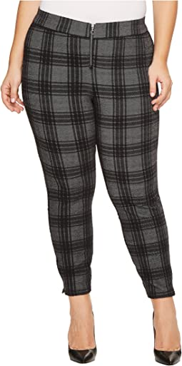 HUE - Plus Size Plaid Loafer Skimmer