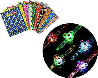 S & E TEACHER'S EDITION Party Favor Set of 24Pcs, 12Pcs Party Favor Bags & 12Pcs LED Light Up Bracelets, Assorted Colors.
