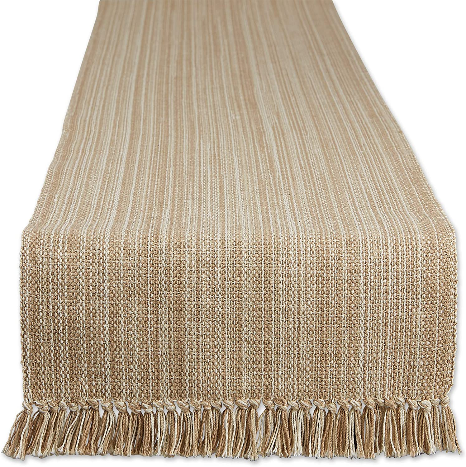 DII Direct Complete Free Shipping store Varigated Tabletop Collection 13x108 Table Runner Taupe
