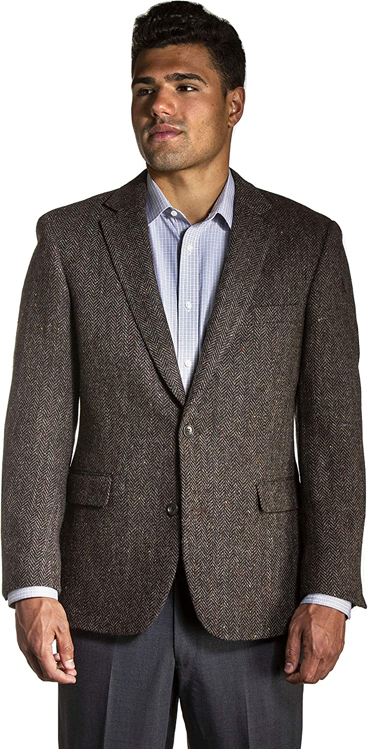 Big and Tall All Wool Classic Tweed Sport Coat to Size 60 in Short, Regular, and Long Sizes