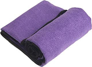 "YogaRat Hand Purple-Black 100% Microfiber Yoga Towels (15"" x 24"")"